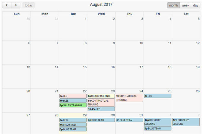 JavaScript Libs: FullCalendar - A full-sized drag & drop
